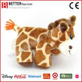 아이들 아이를 위한 연약한 포옹 박제 동물 견면 벨벳 지라프 장난감