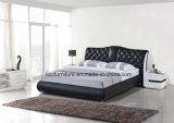 Het eigentijdse Houten Doorgenaaide Bed van de Slaapkamer van het Meubilair Leer