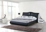 Modern Double Bed Design Bedroom Leather Bed
