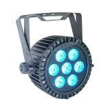 Im Freien dünner LED-NENNWERT RGBWA+UV 6 in 1