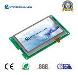 Высокая яркость, 4.3 '' модуль Uart TFT LCD с сопротивляющим экраном касания