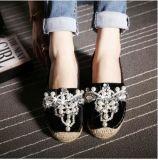 Оптовая торговля пеньки Baotou Rhinestone Pearl плоскую обувь