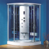 Matizado curvado moderando alumínio de vidro o quarto de chuveiro quadro 900X900