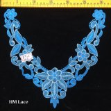 утеска Hme968 шнурка Neckline украшения корабля Costume Applique ворота шнурка Venise сини 31*25cm