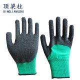 保護手のための乳液のしわの上塗を施してある安全働く手袋