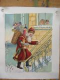 Handgemachter Weihnachtsmann mit Geschenk-Ölgemälden für Weihnachtsdekoration