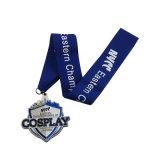 La alta calidad crea la medalla corriente de los deportes para requisitos particulares de la aleación del cinc