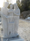 Pierre de marbre blanc naturel Art Sculpture Sculpture pour la décoration de jardin