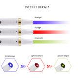 Bewegliche LED helle Therapie-rote/blaue grünes Licht-Akne Pimpla Abbau-Laser-Akne des Hauptgebrauch-schrammt Haut-Behandlung