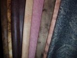트리코 날실에 의하여 뜨개질을 하는 스웨드 직물