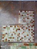 Blanco/Amarillo/verde mosaico de mármol ónix para Flat, hexagonal, Chevron, linterna, de forma romboidal