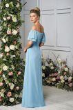 Weg-DSchulter Brautjunfer-Kleid mit Bell-Hülsen-Verpackung um die Arme