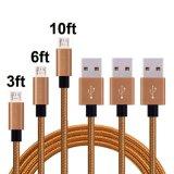 고품질 이동할 수 있는 USB 케이블 마이크로 나일론 땋는 USB 충전기 케이블