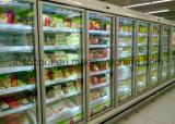 refrigerador de vidro vertical do indicador de Multideck da porta de 12FT com Shelving ajustável