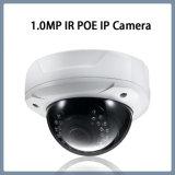 cámara a prueba de vandalismo del IP de la seguridad del CCTV de la red de la bóveda de 1.0MP Poe IR