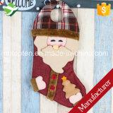 Regalos de la Navidad del ornamento del árbol del bolso del caramelo de Papá Noel de la media