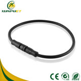 Línea de goma conector de la potencia impermeable del cable del Pin de la lámpara de calle 8