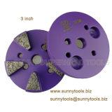3 дюйма 5 Seg магнитный диск с отверстиями для конкретных шлифовального станка