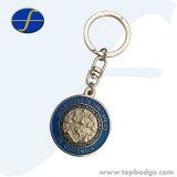 Keyring promocional modificado para requisitos particulares del regalo de Keychain del metal de la insignia con la resina de epoxy