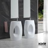 人工的な石造りの支えがない軸受けの洗浄手洗面器