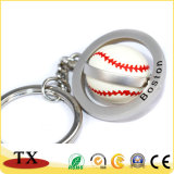 Corrente chave da liga Rotatable Charming do zinco do metal da forma do basebol