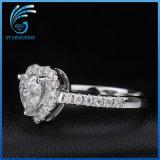 심혼 모양 화려한 커트 Vvs 명확성 형식 작풍 Moissanite 다이아몬드 반지