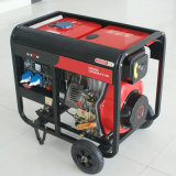 バイソン((h) 6kw 6kVA中国) BS7500dceの信頼できる工場価格の新型実際の出力電力3段階のディーゼル発電機