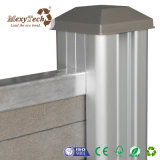Moderne Art kundenspezifischer spezieller Aluminium-Zaun des Entwurfs-WPC