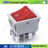 Jsh gris 220V à 4 broches de commutateur à bascule bipolaire