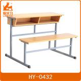 Benchs /Classroom 나무로 되는 두 배 책상 및 의자를 가진 포도 수확 학교 결합 책상