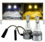 Lampadina doppia H11 H1 H7 del faro di colore C6 3000K 6000K LED