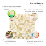 Tuile de mosaïque de plancher de tuile en verre souillé de modèle d'art pour la cuisine