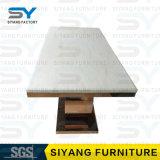 Vector de cena superior del comedor de los muebles del mármol moderno del rectángulo