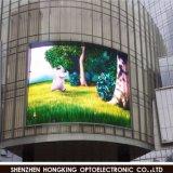 P10 im Freien für das Bekanntmachen der farbenreichen Video-Wand der Kurven-LED