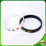Reines Silikon-kundenspezifisches Silikon-Armband mit gedrucktem Firmenzeichen