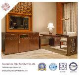 Mobilia dell'hotel di stile cinese con la mobilia di legno della camera da letto impostata (F-3-1)