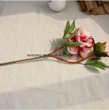 La soie artificielle pivoine rouge Fleurs Fleurs Mariage gros Faux Faux fournisseur pivoine gerbe de fleurs artificielles