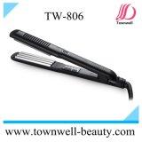 Ferro cerâmico do cabelo da tensão dupla da etiqueta confidencial Straightener Titanium do cabelo do ferro liso de 450 graus
