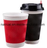 Напечатанные таможней бумажные стаканчики кофеего устранимой стены пульсации Eco-Друга горячие