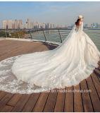 Sleeveless Brautkleid-Spitze, die geschwollenes Hochzeits-Kleid Tb418 bördelt
