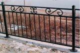 O metal comercial bloqueia cercas decorativas do ferro