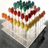 Стойка индикации Lollipop сердца форменный акриловая