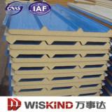 Isolation du toit de PU panneau sandwich en polyuréthane pour la fabrication en acier