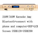250W専門の健全なデジタルの可聴周波電力増幅器D250