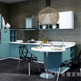Moderner MDF-Melamin-Küche-Möbel-Schrank mit Lack-Vorstand