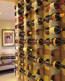 Stretta fissata al muro moderna 4-Bottles Stander della cremagliera del vino dell'acciaio inossidabile
