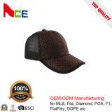 Chapéu do camionista do basebol do engranzamento da palha da forma do OEM da fábrica dos chapéus de China