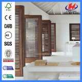 Vidrio de desplazamiento moldeado compuesto con las persianas dentro de puertas