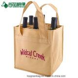 6 زجاجات خمر غير يحاك حامل يحمل جعة حقيبة زجاجة حقيبة