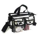 Clear PVC Makeup Cosmetic Toiletry Bags with Removable and Adjustable Shoulder Strap Available for Customize